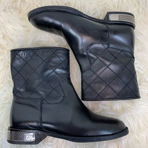 Chanel short moto boots size 38.5